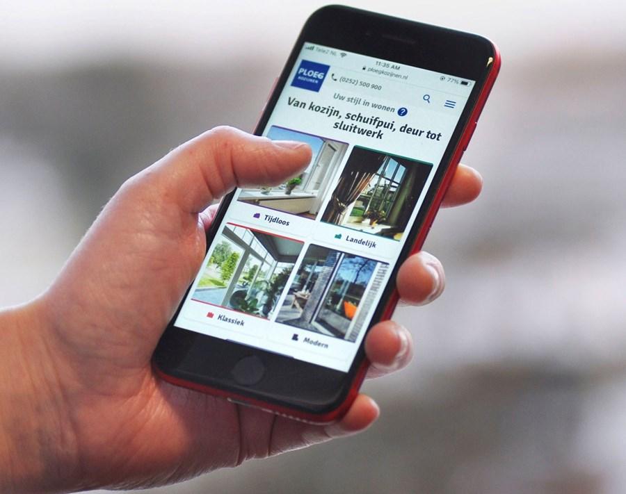 Website Ploeg Kozijnen Mobile